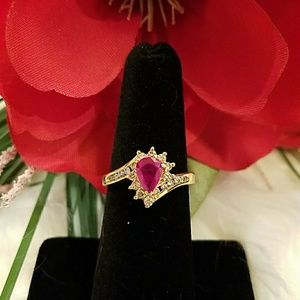Jewelry - 14K RUBY & DIAMOND RING **FIRM**